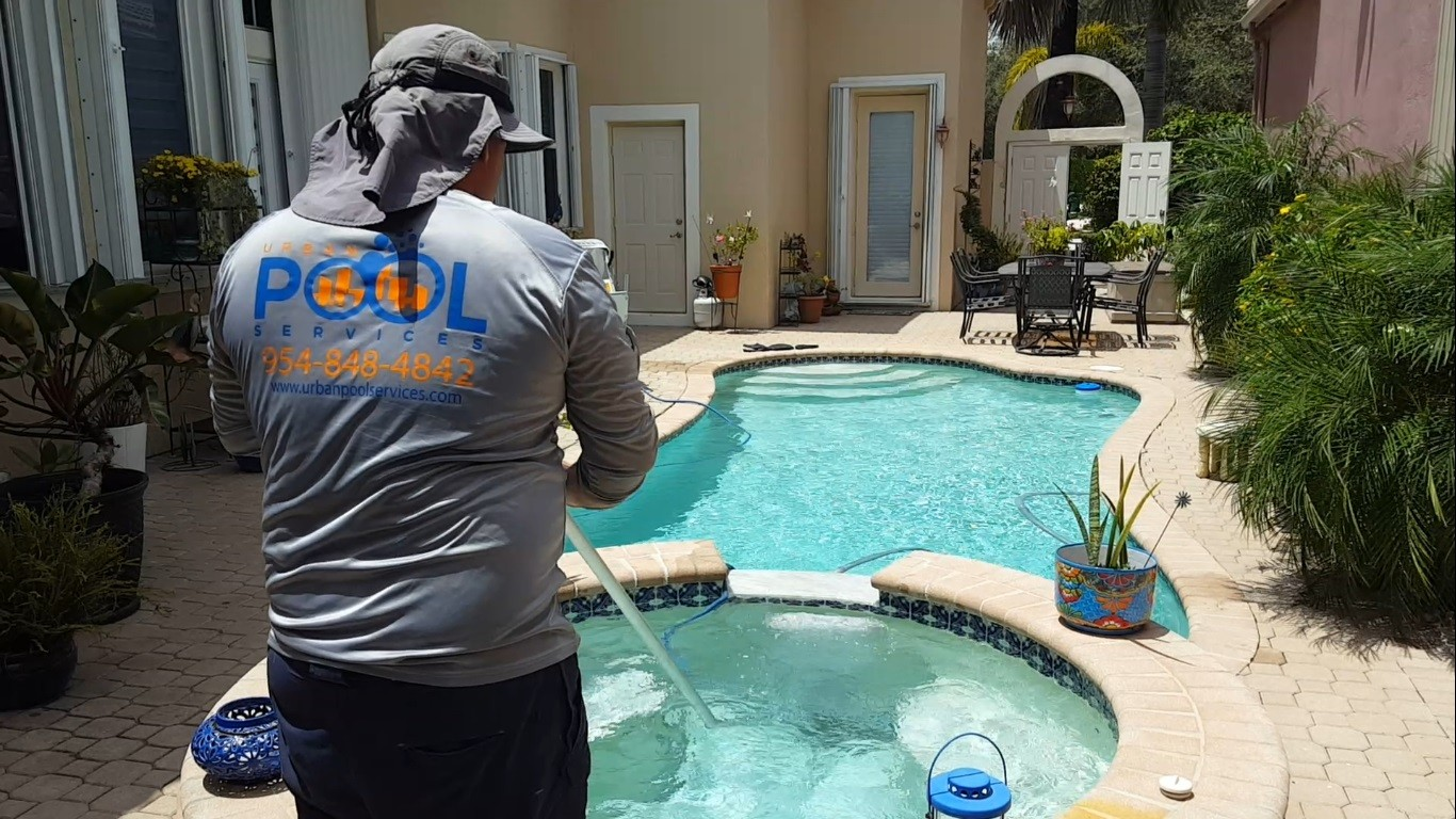 Angel the Pool Manager performing a cleaning