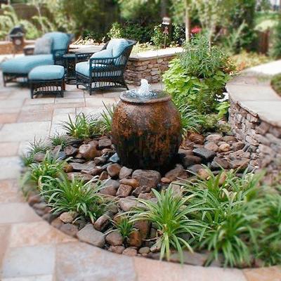Water Fountain Patio in Florida
