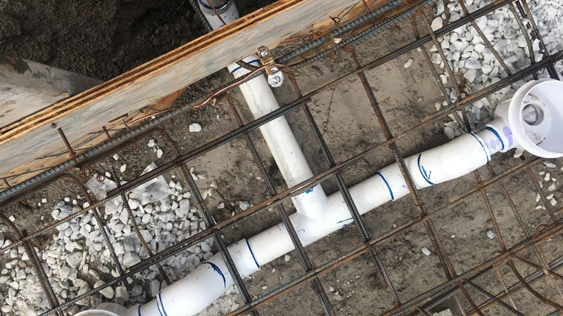 Installation of PVC pipes for swimming pool in fort lauderdale