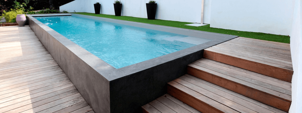 personalised above-ground swimming pools with staircases