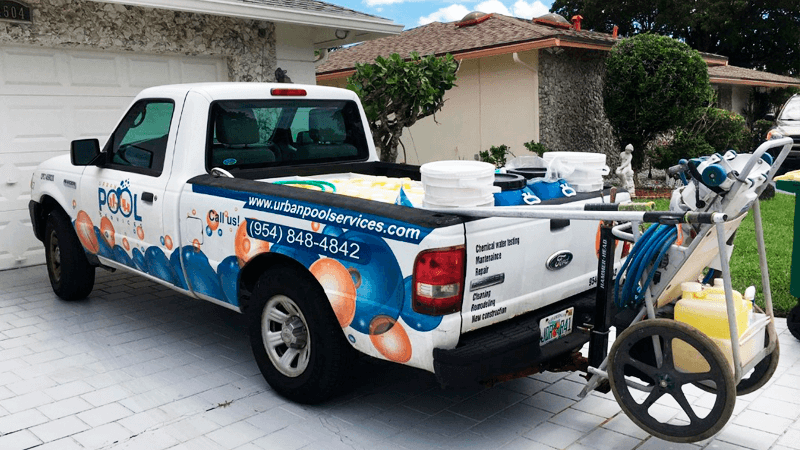 Pool truck of Urban Pool Service