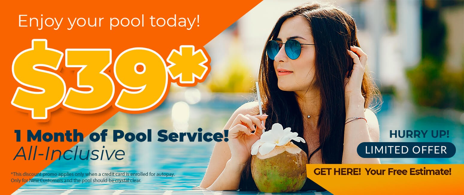Pool Service in Florida - 1 month in $39