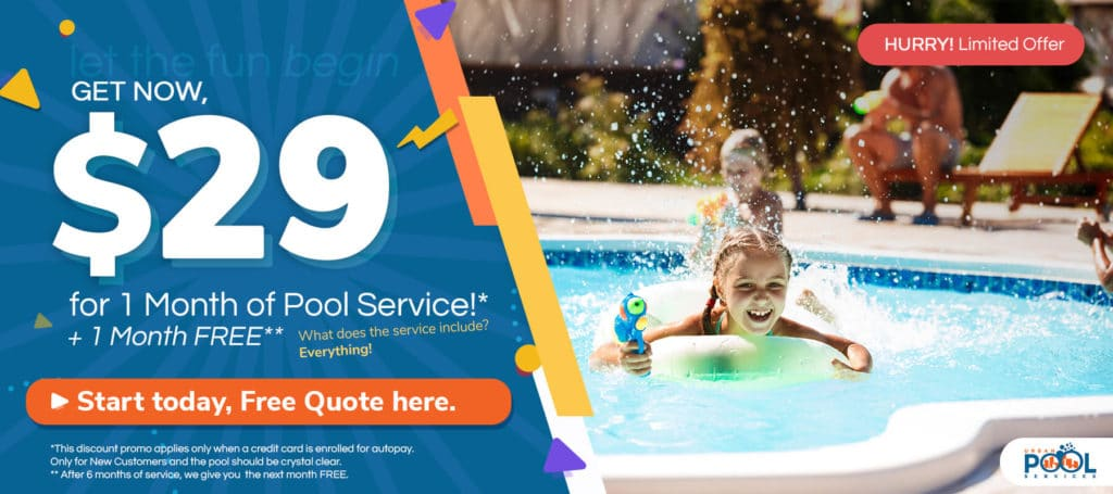$29 for 1 month of Pool Service + 1 month free
