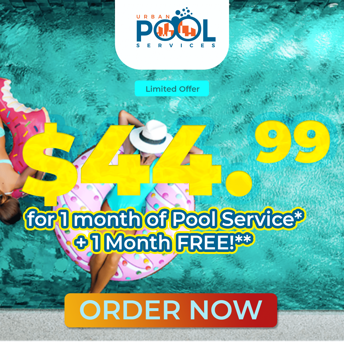 Florida Pool Service for 44.95 1 month